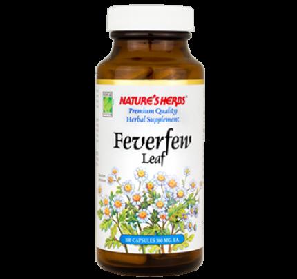 Feverfew Leaf 380mg 100 Capsules