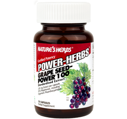 Grape Seed Power 95% Standardized Extract 100mg 30 Capsules