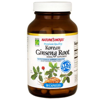 Korean Ginseng White 550 mg 50 Capsules