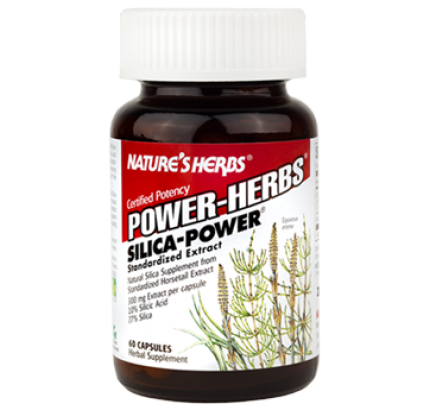 Silica Power Herbs 10% Standardized Horsetail Extract 300mg 60 Capsules