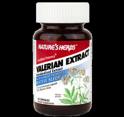 Valerian Power 0.8% Standardized Valerian Root Extract 250mg 60 Capsules