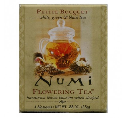 Flowering Tea Petite Bouquet Assorted Sampler 4 Tea Bags