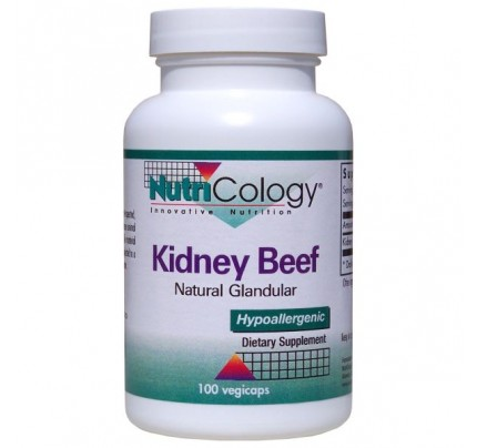 Kidney Beef Natural Glandular 100 Capsules