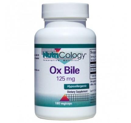 Ox Bile 125 mg 180 Vegetarian Capsules