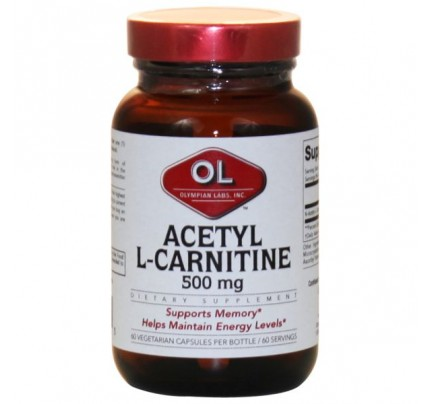 Acetyl L-Carnitine 500mg 60 Capsules