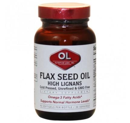 Flax Seed Oil & High Lignans 1,000mg 90 Softgels