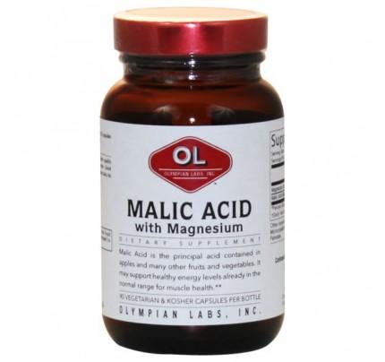 Malic Acid with Magnesium 500mg 90 Capsules