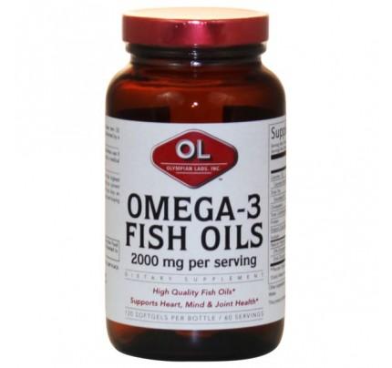 Omega 3 Fish Oils 1,000mg (180 EPA 120 DHA) 120 Softgels