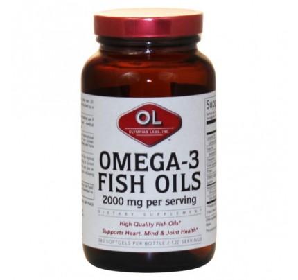 Omega 3 Fish Oils 1,000mg (180 EPA 120 DHA) 240 Softgels