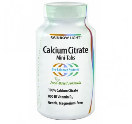 Calcium Citrate Mini-Tabs 100% Natural 120 Tablets