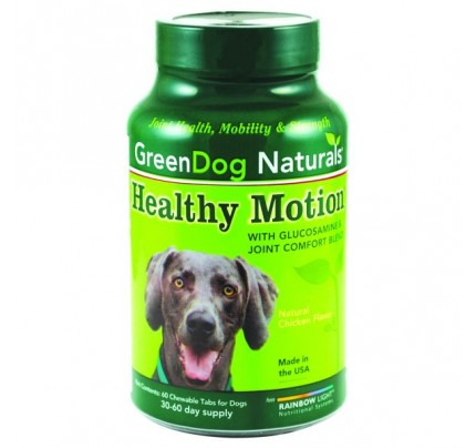 GreenDog Naturals Healthy Motion 60 Chewable Tablets