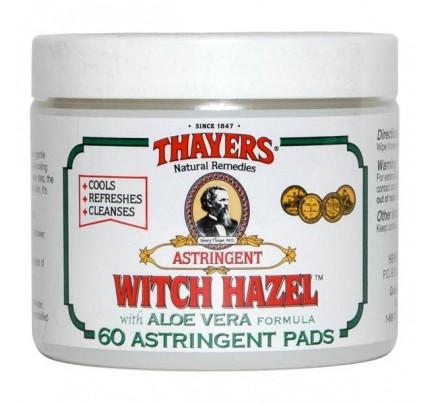 Witch Hazel Original with Aloe Vera Astringent Pads 60 Pads