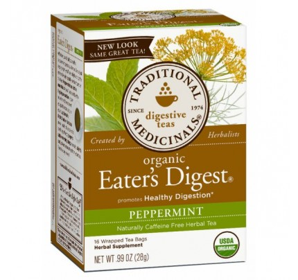 Organic Eater's Digest Peppermint Tea 16 Teabags