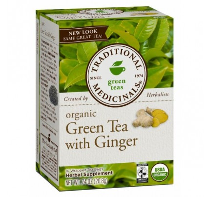 Organic Green Tea with Ginger Tea 16 Teabags