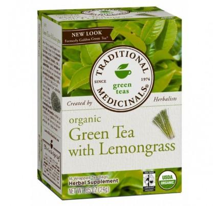 Organic Green Tea with Lemongrass Tea formerly Golden Green Tea 16 Teabags