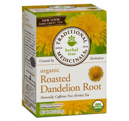 Organic Roasted Dandelion Root Tea 16 Teabags