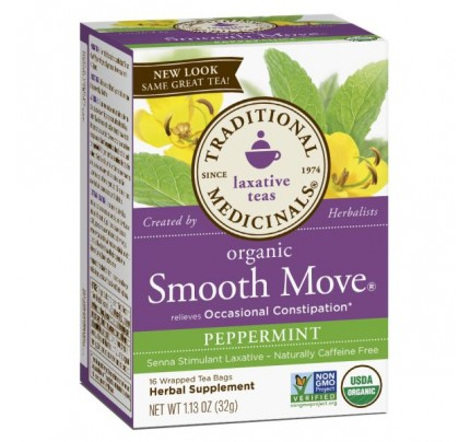 Organic Smooth Move Peppermint Tea 16 Teabags