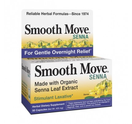 Organic Smooth Move Senna Leaf Extract 50 Capsules