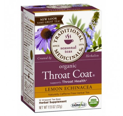 Organic Throat Coat Lemon Echinacea Tea 16 Teabags