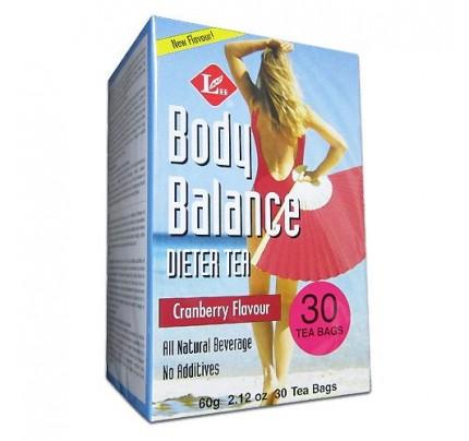 Body Slim Balance Cranberry Dieter Tea 30 Tea Bags