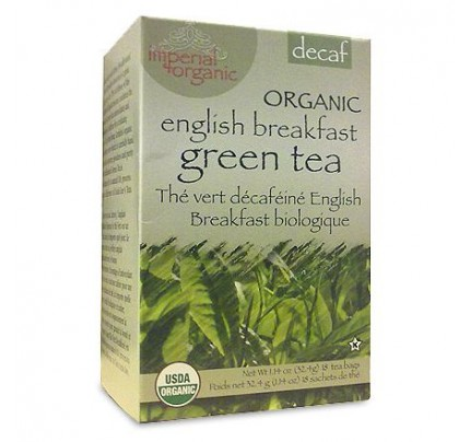 Imperial Organic English Breakfast Decaffeinated Green Tea 18 Tea Bags