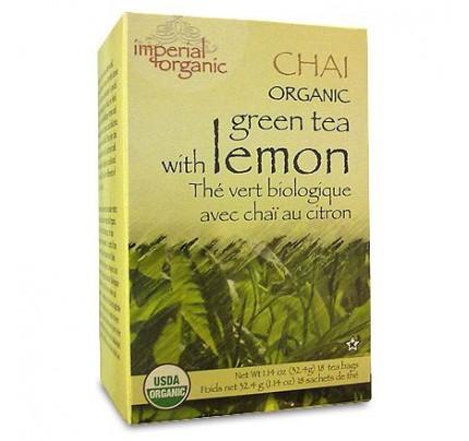 Imperial Organic Green Tea with Lemon Chai Tea 18 Tea Bags