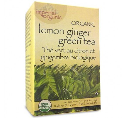 Imperial Organic Lemon Ginger Green Tea 18 Tea Bags