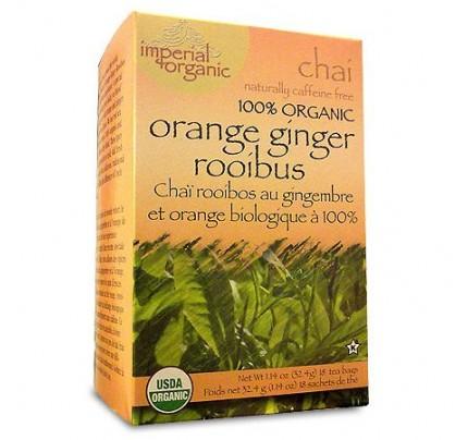 Imperial Organic Orange Ginger Rooibos Chai Tea 18 Tea Bags