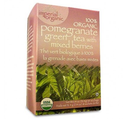 Imperial Organic Pomegranate Green Tea with Mixed Berries 18 Tea Bags
