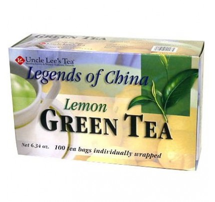 Legends of China Lemon Green Tea 100 Tea Bags