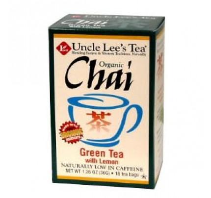 Organic Chai Green Tea with Lemon 18 Tea Bags