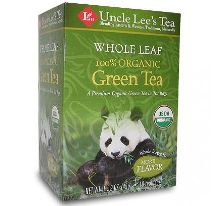 Whole Leaf Organic Green Tea 18 Tea Bags