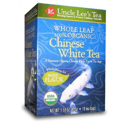 Whole Leaf Organic White Tea 18 Tea Bags