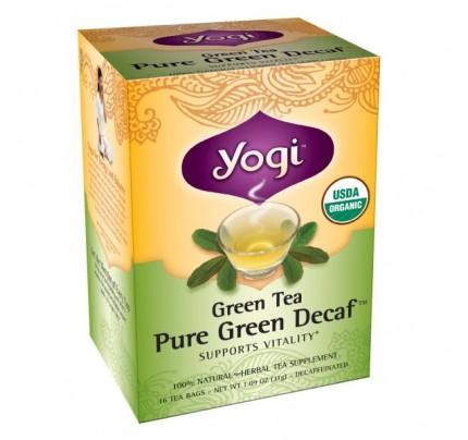 Green Tea Pure Green Decaf Organic 16 Tea Bags