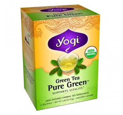 Green Tea Pure Green Organic 16 Tea Bags