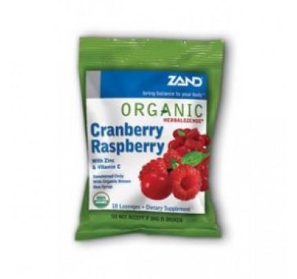 HerbaLozenge Organic Cranberry Raspberry 18 Lozenges