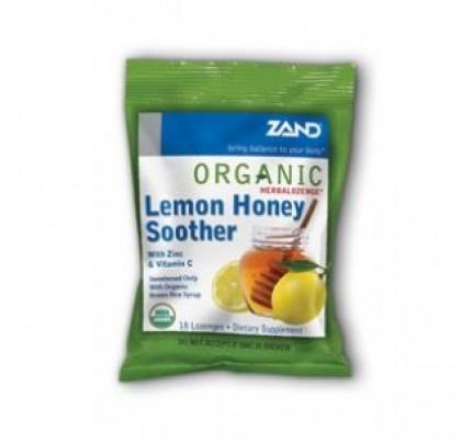 HerbaLozenge Organic Lemon Honey Soother 18 Lozenges