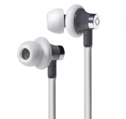 A3 Active Hands-Free Headset Cell Phone Air Tube Stereo Earbuds White