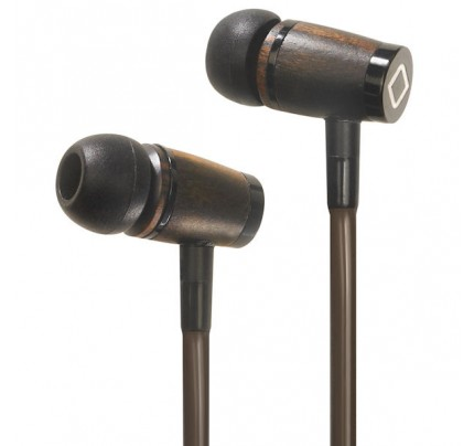 A6 Hands-Free Headset Cell Phone Airflow Air Tube Wood Stereo Earbuds