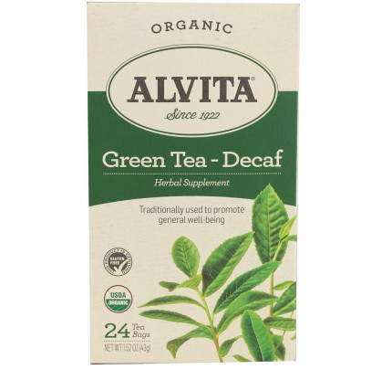 Organic Chinese Green Tea Decaf 24 Tea Bags
