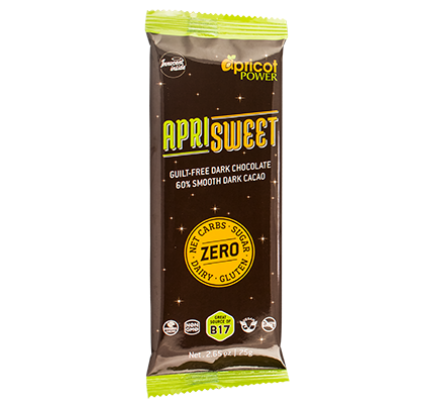 ApriSweet 60% Dark Chocolate Whole Food Snack Bar 2.65 oz. (75 g)