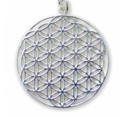 Flower of Life Pendant Sterling Silver 30 mm