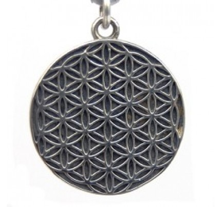 Flower of Life Charm, Sterling Silver