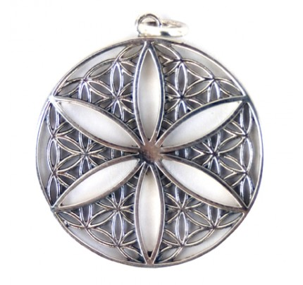 Flower of Life Open Pendant, Sterling Silver