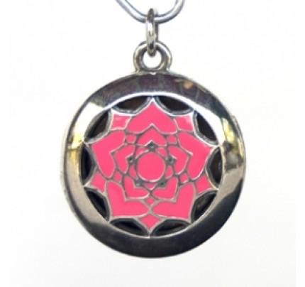 Aromatherapy Chakra Pendant Chakra 7, Crown - Sterling Silver, Pink