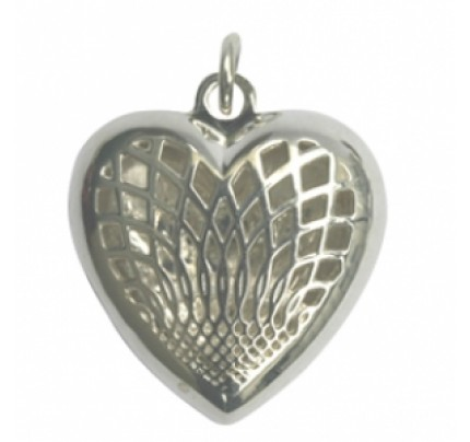 Aromatherapy Jewelry Heart Pendant, Sterling Silver