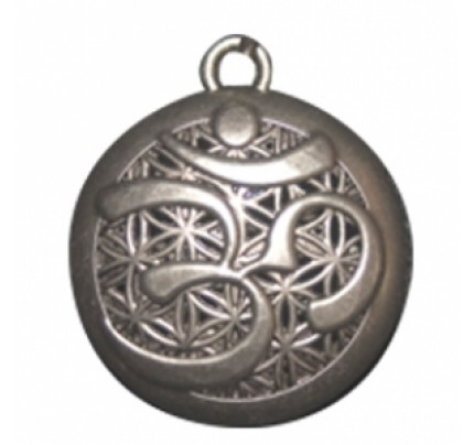 OM Pewter Aromatherapy Jewelry Scent Chamber with Gift Tin