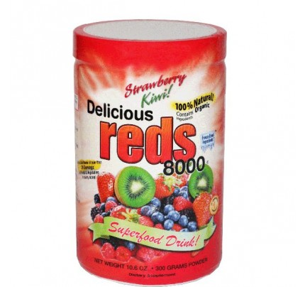 Delicious Reds 8000 Strawberry Kiwi Flavor 10.6oz.