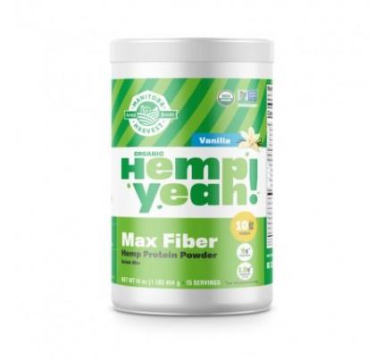 Hemp Yeah! Max Fiber Hemp Protein Powder Vanilla 16 oz. (454 g)