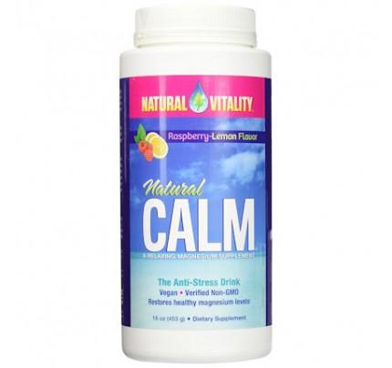 Natural Calm Anti-Stress Drink Raspberry Lemon 16 oz. (453 g)